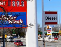 The price for one litre of gasoline was the same on both corners of Stewart Boulevard on Thursday in Brockville. A Canadian gasoline price analyst says it's difficult to predict where prices are heading (DARCY CHEEK/The Recorder and Times).
