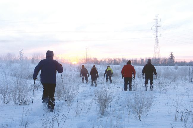 Snowshoeing group hits Fort | Fort Saskatchewan Record
