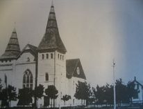 They don't build 'em like Grace Methodist anymore, especially with such tall steeples. (From Les Green's album)