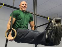 Chris Lesage of Lesage's ABSolute Conditioning in Simcoe spends some time hanging out at his North Main St. gym location. Health professionals across the country tend to experience a spike in clients in January, but many falter by the end of the month. (JACOB ROBINSON Simcoe Reformer)