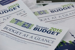 The proposed 2015 budget for the City of Toronto. (Stan Behal/Toronto Sun)