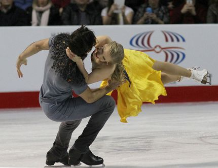 <p>Kaitlyn Weaver and Andrew Poje, both of Waterloo, Ont., compete in the Senior Ice Dance final 2015 Canadian Tire National Skating Championships on Saturday January 24 2015. MacAlpine/The Kingston Whig-Standard/QMI Agency