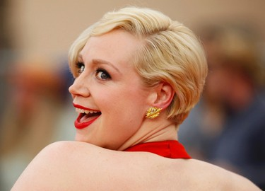 """Actress Gwendoline Christie, from the HBO drama sereis """"Game of Thrones,"""" arrives at the 21st annual Screen Actors Guild Awards in Los Angeles, California January 25, 2015.   REUTERS/Mike Blake"""