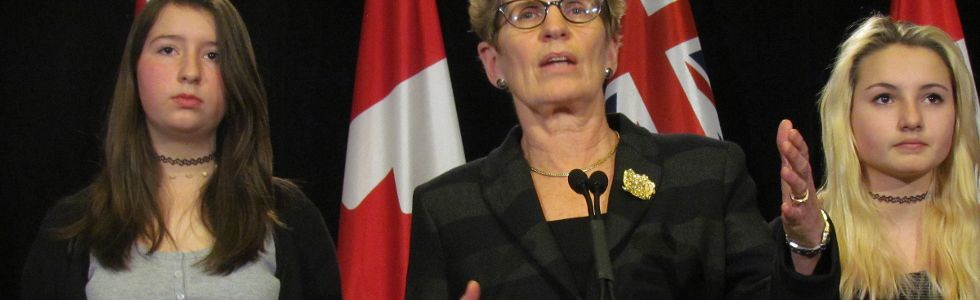 Wynne and students