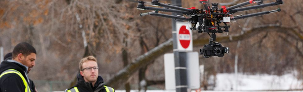 Edmonton's first-ever sanctioned drone flight takes off