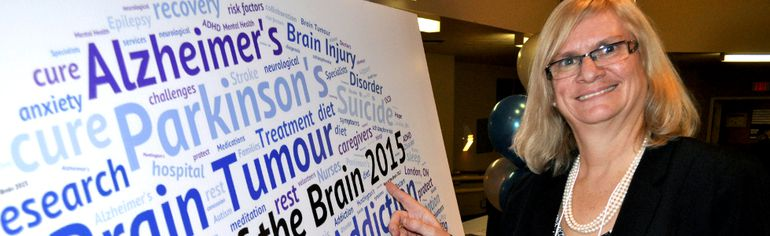 Donna Thomson, executive director of the Brain Injury Association of London and Region, at Parkwood Institute in London Jan. 28, 2015 to announce the campaign Year of the Brain 2015. CHRIS MONTANINI\LONDONER\QMI AGENCY