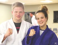 Ryan Walker, left, and Natasha Burton of the Portage Judo Club will fight at the Canada Winter Games in Prince George, B.C., beginning on Feb. 13.