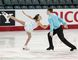 Brantford's Mary Orr and her partner, Phelan Simpson, of Kitchener, complete a routine in the junior pairs competition at the  Canadian Tire National Skating Championships in Kingston. (Photo by Sean McKinnon)