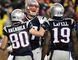 Patriots tight end Rob Gronkowski (centre) celebrates with teammates Danny Amendola (80) and Brandon LaFell (19) after scoring a touchdown against the Colts in the AFC Championship Game in Foxborough, Mass., on Sunday, Jan. 18, 2015. (Robert Deutsch/USA TODAY Sports)
