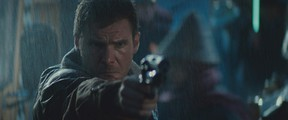 Harrison Ford in a scene from Blade Runner.