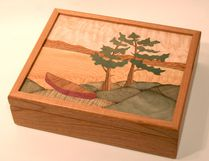 Owen Sound Cultural Award winners receive a custom-made marquetry box that has been handcrafted by Owen Sound artist Diane Edwards. (SUPPLIED PHOTO)