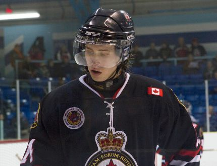 Newly acquired Sarnia Legionnaires defenceman Mitch Read played his first game with the club Thursday, picking up an assist in a 7-6 loss to the LaSalle Vipers. (Submitted photo by Anne Tigwell)