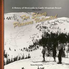 The cover image of author Steven Kenworthy's book about the history of Castle Mountain Resort. Submitted photo.
