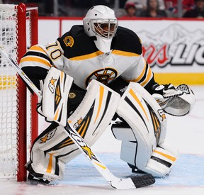 The Bruins called up goaltender Malcolm Subban (pictured) and sent fellow netminder Niklas Svedberg to the minors on Friday. (Martin Chevalier/QMI Agency/Files)