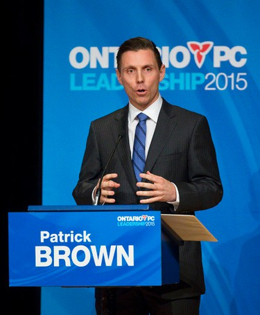 Patrick Brown Age: 36 Profession: Lawyer Political history: First elected 2006 as Conservative MP for Barrie, re-elected twice Campaign slogan: For The Win (Photo: Craig Glover/QMI Agency)