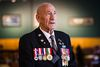 World War II veteran Maurice White speaks during a ceremony recognizing the 75th anniversary of the beginning of the Second World War at Brigadier James Curry Jefferson Armoury in Edmonton, Alta., on Wednesday, Sept. 10, 2014. (Codie McLachlan/Edmonton Sun/QMI Agency)