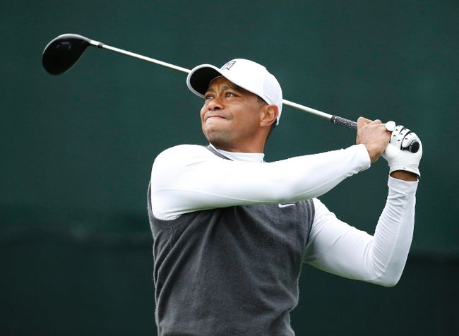 Tiger Woods hits a drive during the second round of the Waste Management Phoenix Open at TPC Scottsdale. (Rob Schumacher/Arizona Republic via USA TODAY Sports)