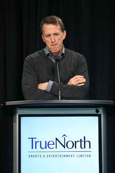 True North Sports and Entertainment executive chairman Mark Chipman met with the media at MTS Centre on Wed., Feb. 4, 2014, to discuss downtown development. Kevin King/Winnipeg Sun/QMI Agency