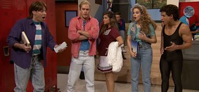 """The """"Saved by the Bell"""" cast reunites on """"The Tonight Show Starring Jimmy Fallon."""""""
