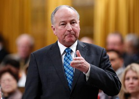 MP Rob Nicholson speaks during Question Period in the House of Commons on Parliament Hill in Ottawa January 26, 2015. REUTERS/Chris Wattie