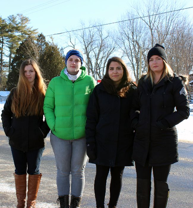 Farm Girl Mobile Food Co. had been under investigation since early December 2014 after Becky Smith, left to right, Anna Everdell, Elizabeth Politis and Meigan Jensen filed claims to the Ministry of Labour. (Steph Crosier/The Whig-Standard)