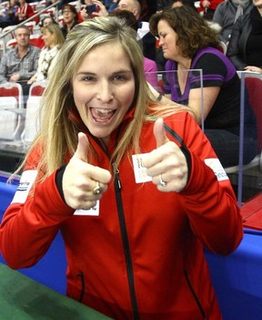Jennifer Jones is trying her hand at broadcasting this weekend. (DARREN MAKOWICHUK/QMI Agency)