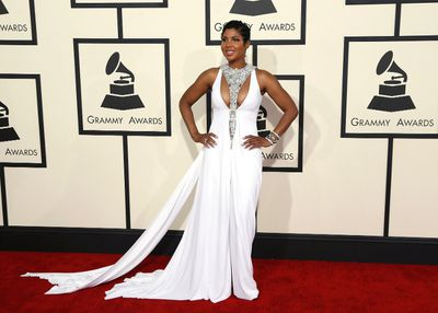 R&B artist Toni Braxton arrives at the 57th annual Grammy Awards in Los Angeles, California February 8, 2015.  REUTERS/Mario Anzuoni