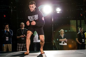 Fighter Rory MacDonald during an open workout at UFC 174 media day event in Burnaby, B.C. on Thursday June 12, 2014. Carmine Marinelli /QMI Agency