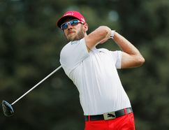 Canadian golfer Graham DeLaet is a noted Flames fan. Photo by Doug Pensinger/Getty Images-AFP.