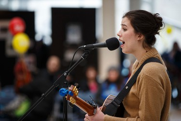 Olivia Wik performs during Family Day at City Hall in Edmonton, Alta., on Monday, Feb. 16, 2015. Family Day events were held across the city. Ian Kucerak/Edmonton Sun/ QMI Agency