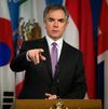 Alberta Premier Jim Prentice announces that the Province's offices in Ottawa, Chicago and Munich will be closed, during a press conference at the Alberta Legislature in Edmonton Alta., on Wednesday Feb. 18, 2015. Plans for offices in California and Brazil have been suspended. David Bloom/Edmonton Sun