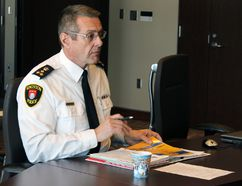 Kingston Police Chief Gilles Larochelle. (Steph Crosier/The Whig-Standard)