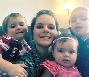 Facebook photo  Emanuelle D'Amours, found dead in Kapuskasing last Wednesday, is survived by partner Andre Racine of Sudbury and their three small children, Gabriel, 3, Maxim, 2, and Ava, nine months.