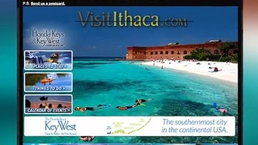 "Ithaca, New York: An ad from Visit Ithaca in New York state went viral when they encouraged people to actually stay away due to the bitterly cold winter weather and visit the warm Florida Keys instead. Bruce Stoff, director of the Ithaca County Convention and Visitors Bureau, told the Miami Herald he thought of the online campaign because everyone in the city was ""just done with winter."""