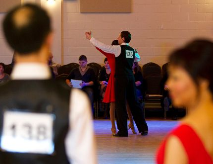 Sydney Tang and Winnie Ng (foreground) wait to perform during the 2014 Northern Lights Classic at Central Lions Recreation Centre. The 2015 event will take place Feb. 28.