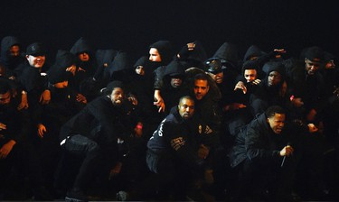 Kanye West performs at the BRIT music awards at the O2 Arena in Greenwich, London, February 25, 2015. REUTERS/Toby Melville