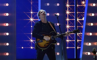 George Ezra performs at the BRIT music awards at the O2 Arena in Greenwich, London, February 25, 2015. REUTERS/Toby Melville