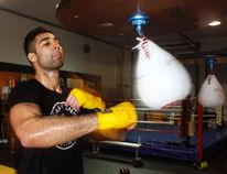 Usama Khan works out at Rival Boxing Club as the amateur super heavy weight prepares for his next bout