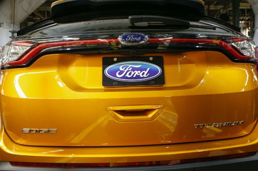 With 400 new jobs on top of the 1,000 new jobs last year. Ford Canada in Oakvillle is proud to announce the all new Ford Edge. on Thursday February 26, 2015. Dave Thomas/Toronto Sun