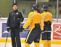 Coach Kevin Higo and the Grande Prairie Storm will wrap their season with two home games against the Sherwood Park Crusaders this weekend. Logan Clow/Daily Herald-Tribune