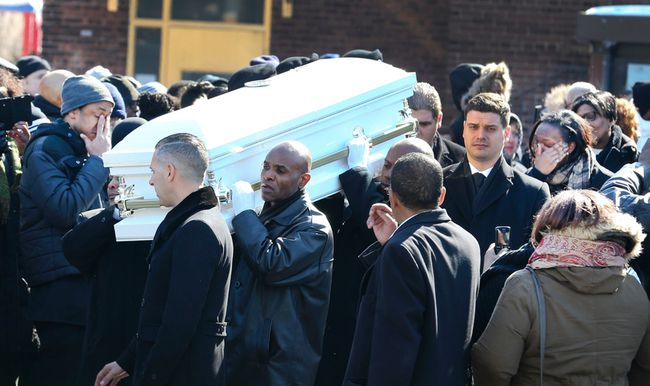 Hundreds attended St. Matthew's United Church for the funeral of three-year-old Elijah Marsh on Saturday, Feb. 28, 2015. Marsh died after leaving his grandmother's apartment in the early morning hours, on an extremely cold night. (Veronica Henri/Toronto Sun)