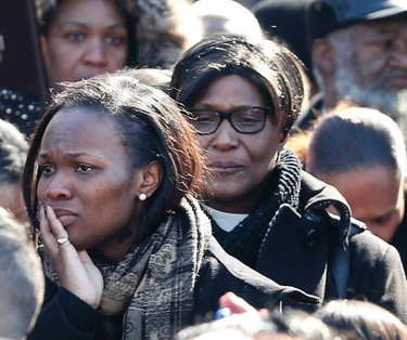 Relatives behind the casket at the funeral of three-year-old Elijah Marsh on Saturday, Feb. 28, 2015. Marsh died after leaving his grandmother's apartment in the early morning hours, on an extremely cold night. Veronica Henri/Toronto Sun/QMI Agency
