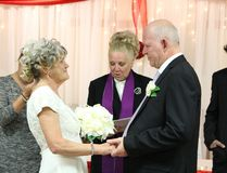 Christine and Wayne Thompson, already married for 20 years, exchanged vows once again on Feb. 28, 2015, as part of Christine's dying wish to be married in a wedding gown. She was diagnosed with terminal lung and bone cancer in 2013. The couple's first wedding was a small affair at Peterborough city hall. (Maryam Shah/Toronto Sun)