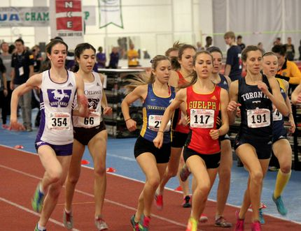 Laurentian Voyageurs' Katie Wismer set a new school record in the 1,500 metres at the OUA championships at York University on the weekend.