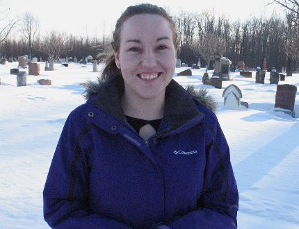 "<p>Local historian Sara Lauzon, at the St. Lawrence Seaway Valley Cemetery between Long Sault and Ingleside, on Saturday, Feb. 28, 2015. Lauzon is fundraising to purchase a monument to honour ""Cornwall's misfits'' who are buried at the site.</p> <p>TODD HAMBLETON/CORNWALL STANDARD-FREEHOLDER/QMI AGENCY"