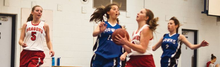 Jayden Kennedy lines up two of her 20 points with this second-quarter layup. Greg Cowan photos/Pincher Creek Echo.