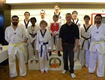 The members of Kee's Tae Kwon Do Club.