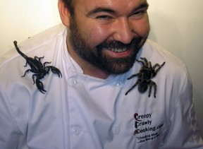 Chef Jeff Stewart will be cooking up candy bugs at the Cambridge Butterfly Conservatory. (Handout)