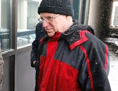 Ben Levin arrives at 1000 Finch court on Tuesday, March 3, 2015. (Michael Peake/Toronto Sun)