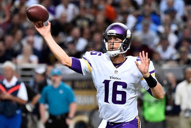 The Bills acquired quarterback Matt Cassel from the Vikings to compete with EJ Manuel this upcoming season. (Jasen Vinlove/USA TODAY Sports/Files)